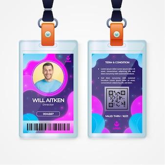 Sjabloon voor abstract identiteitskaart-kaarten met foto Gratis Vector