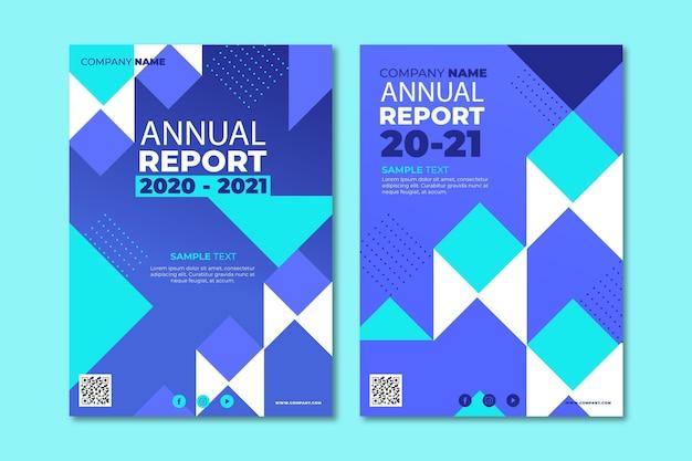 Sjabloon voor abstract jaarverslag 2020/2021 Gratis Vector