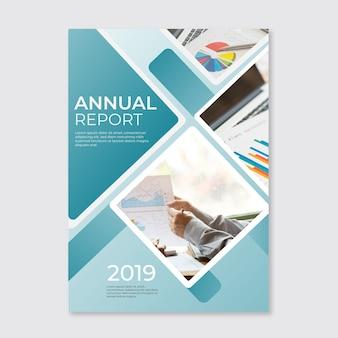 Sjabloon voor abstract jaarverslag met afbeelding
