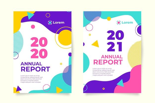 Sjabloon voor abstract jaarverslag