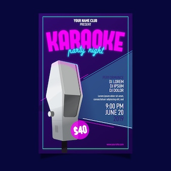 Sjabloon voor abstract karaoke-poster