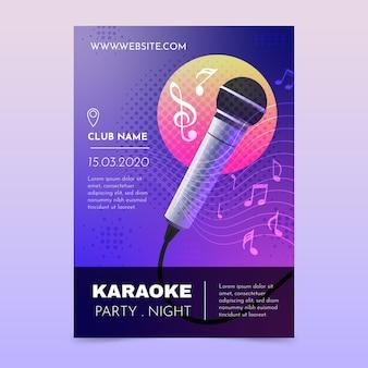 Sjabloon voor abstract karaoke-poster Premium Vector