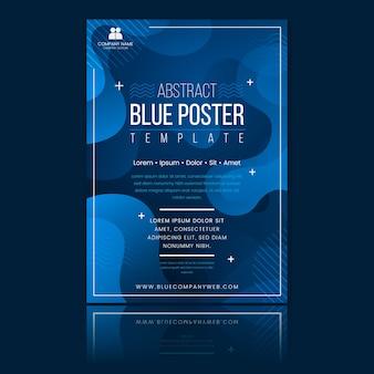 Sjabloon voor abstract klassiek blauw brochure