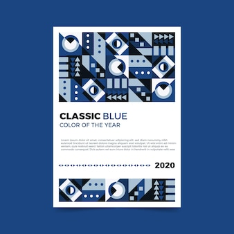 Sjabloon voor abstract klassiek blauw folder