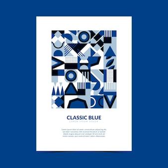 Sjabloon voor abstract klassiek blauw folder