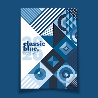 Sjabloon voor abstract klassiek blauw poster