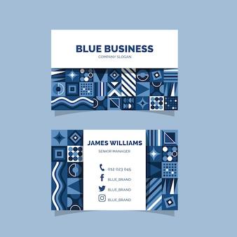 Sjabloon voor abstract klassiek blauw visitekaartje