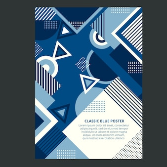 Sjabloon voor abstract klassiek concept poster