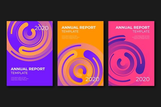 Sjabloon voor abstract kleurrijk jaarverslag