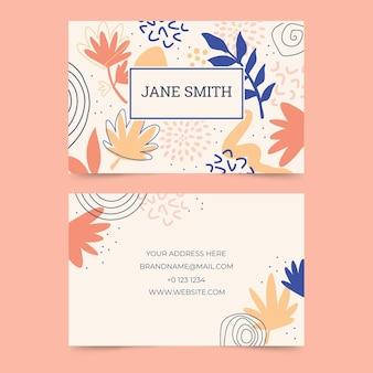 Sjabloon voor abstract kleurrijk visitekaartjes