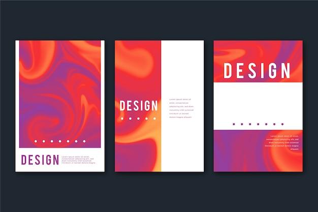 Sjabloon voor abstract kleurrijke covers