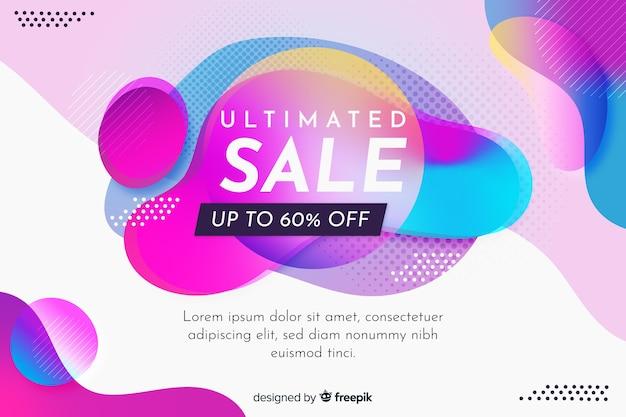 Sjabloon voor abstract kleurrijke verkoopbanner