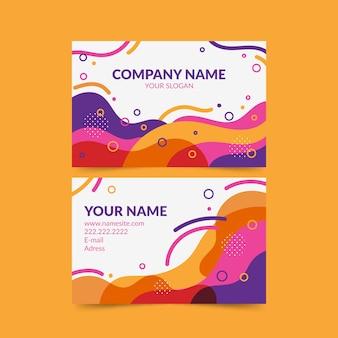Sjabloon voor abstract kleurrijke visitekaartjes