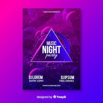 Sjabloon voor abstract lichteffect muscic poster