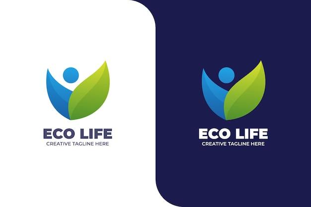 Sjabloon voor abstract logo voor zorgverzekering