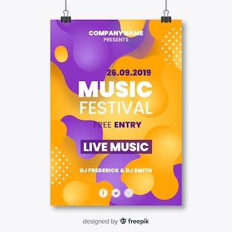 Sjabloon voor abstract muziekfestival poster