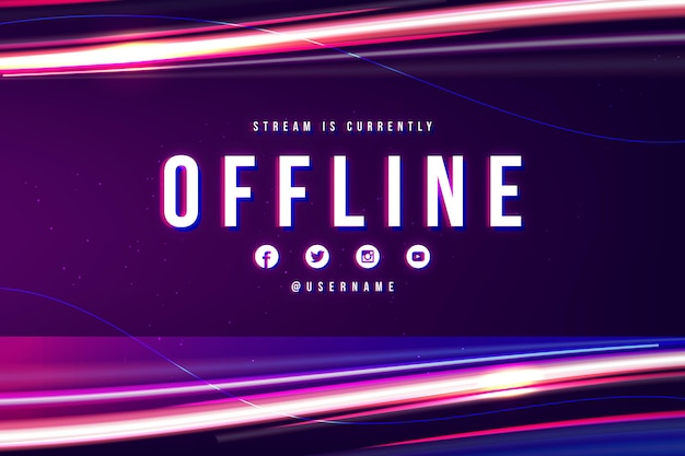 Sjabloon voor abstract offline twitch-spandoek