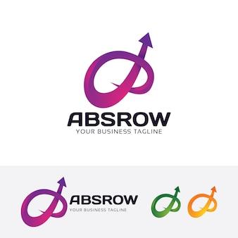 Sjabloon voor abstract pijl vector logo
