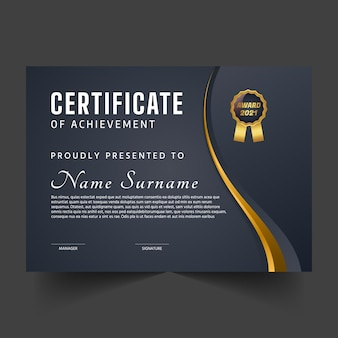 Sjabloon voor abstract premium certificaat