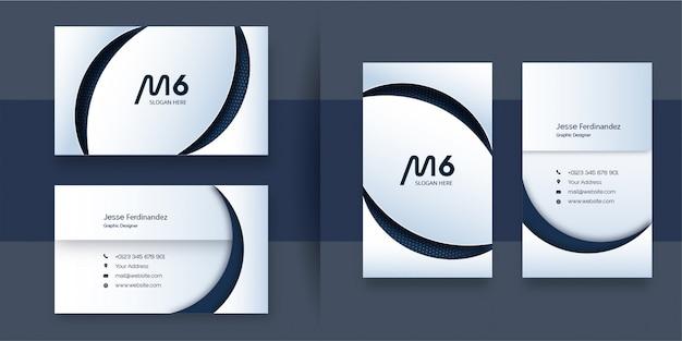 Sjabloon voor abstract professioneel papier gesneden stijl visitekaartjes