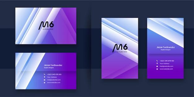 Sjabloon voor abstract professionele visitekaartjes
