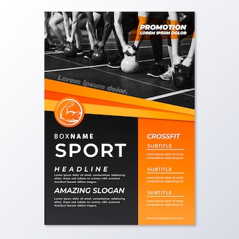 Sjabloon voor abstract sport folder