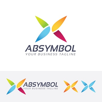 Sjabloon voor abstract symbool vector logo