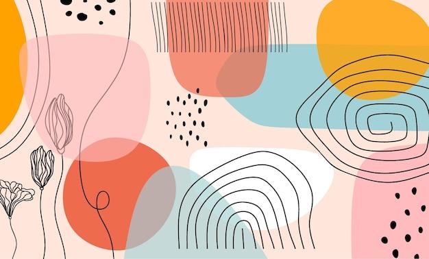 Sjabloon voor abstract trendy universele artistieke achtergrond.