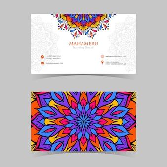 Sjabloon voor abstract visitekaartjes, achter- en vooraanzicht