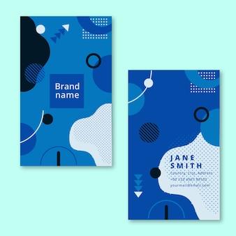 Sjabloon voor abstract visitekaartjes in kleur van het jaar