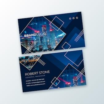 Sjabloon voor abstract visitekaartjes met afbeelding pack