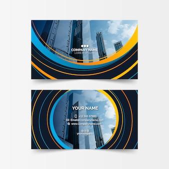 Sjabloon voor abstract visitekaartjes met afbeelding