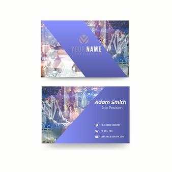 Sjabloon voor abstract visitekaartjes met foto