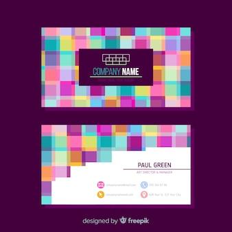 Sjabloon voor abstract visitekaartjes met geometrisch ontwerp