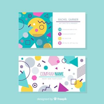 Sjabloon voor abstract visitekaartjes met geometrische vormen