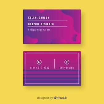 Sjabloon voor abstract visitekaartjes met kleurovergang
