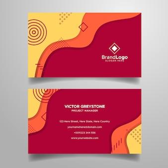 Sjabloon voor abstract visitekaartjes met logo