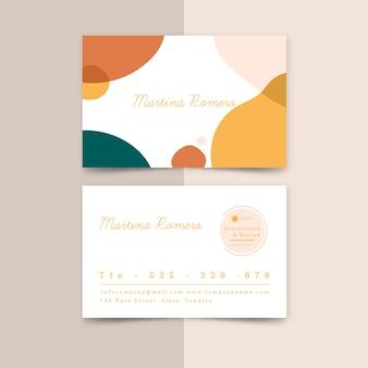 Sjabloon voor abstract visitekaartjes met pastel kleuren