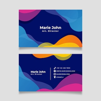 Sjabloon voor abstract visitekaartjes