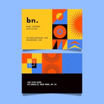 Sjabloon voor abstract voor- en achterkant visitekaartjes