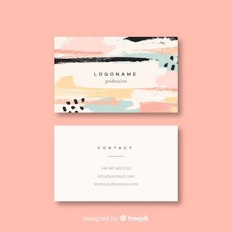 Sjabloon voor abstract vorm visitekaartjes