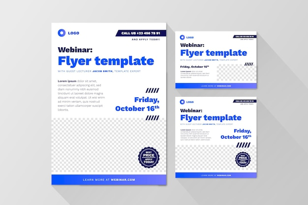 Sjabloon voor abstract webinar flyers