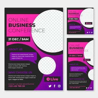Sjabloon voor abstract webinar flyers