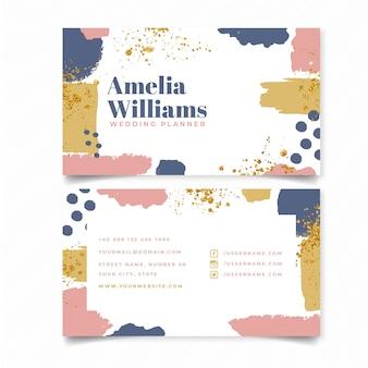 Sjabloon voor abstract wedding planner-visitekaartjes
