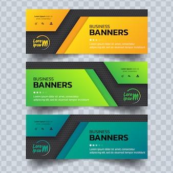 Sjabloon voor abstract zakelijke banners