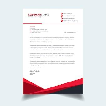 Sjabloon voor abstract zakelijke briefpapier