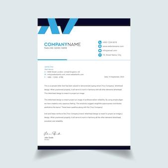 Sjabloon voor abstract zakelijke professionele briefpapier