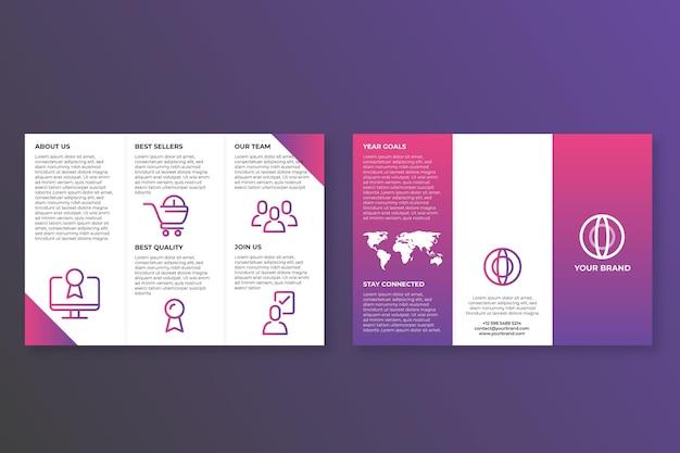 Sjabloon voor abstracte driebladige brochure thema