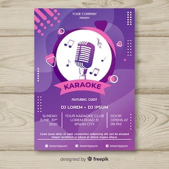 Sjabloon voor abstracte live muziek poster