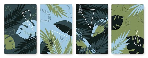 Sjabloon voor abstracte minimale natuur geometrische vormen